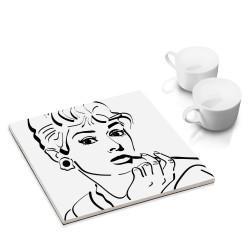 designersgroup - dg-selection Untersetzer - bekannte Schauspieler: Audrey Hepburn