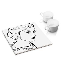 designersgroup - dg-selection Untersetzer - bekannte Köpfe: Coco Chanel