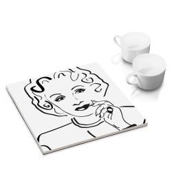 designersgroup - dg-selection Untersetzer - bekannte Schauspieler: Marlene Dietrich