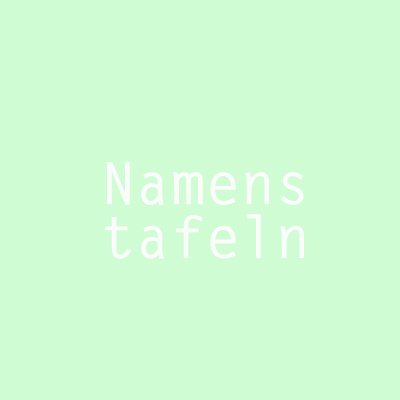 designersgroup - Namenstafeln