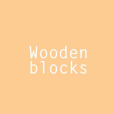 designersgroup - Wooden blobks